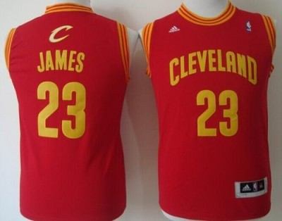 Revolution 30 Cleveland Cavaliers #23 LeBron James Red Stitched Youth NBA Jersey