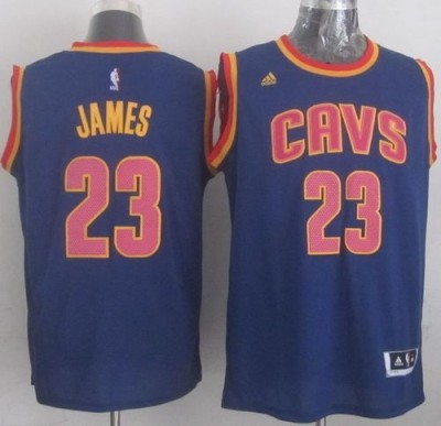 Revolution 30 Cleveland Cavaliers #23 LeBron James Navy Blue CavFanatic Stitched NBA Jersey