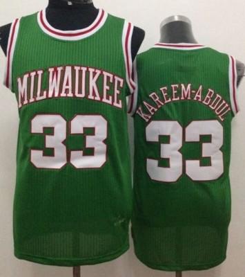 Milwaukee Bucks #33 Kareem Abdul Jabbar Green Throwback Stitched NBA Jersey