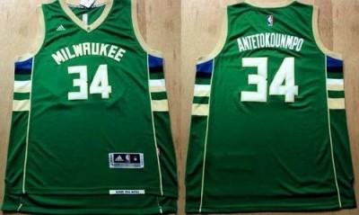 Revolution 30 Milwaukee Bucks #34 Giannis Antetokounmpo Green Stitched NBA Jersey