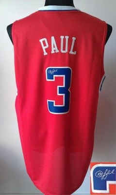 Revolution 30 Autographed Los Angeles Clippers #3 Chris Paul Red Stitched NBA Jersey
