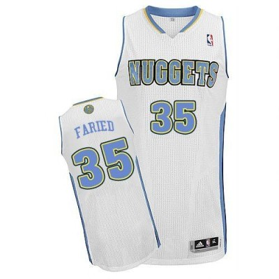 Revolution 30 Denver Nuggets #35 Kenneth Faried White Stitched NBA Jersey