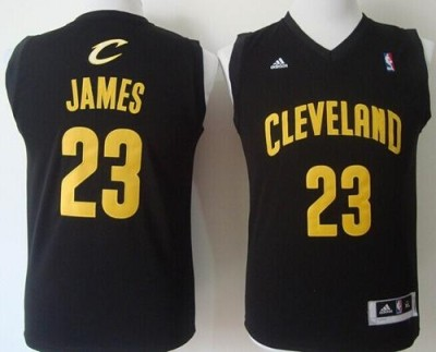 Revolution 30 Cleveland Cavaliers #23 LeBron James Black Stitched Youth NBA Jersey