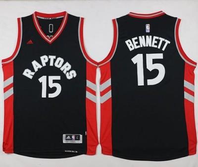 Toronto Raptors #15 Anthony Bennett Black Stitched NBA Jersey