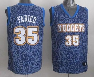 Denver Nuggets #35 Kenneth Faried Dark Blue Crazy Light Stitched NBA Jersey