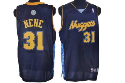 Denver Nuggets #31 Nene Hilario Stitched Dark Blue NBA Jersey
