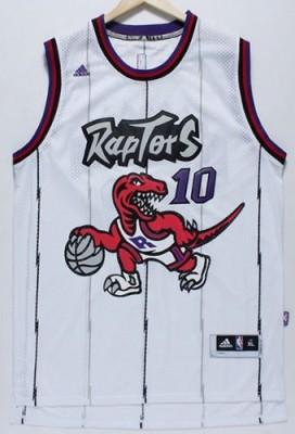Toronto Raptors #10 DeMar DeRozan White Throwback Stitched NBA Jersey