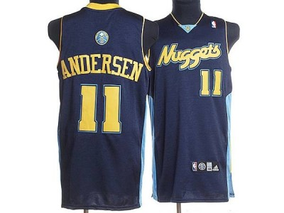 Denver Nuggets #11 Chris Andersen Stitched Dark Blue NBA Jersey