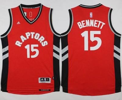 Toronto Raptors #15 Anthony Bennett Red Stitched NBA Jersey
