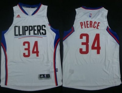 Los Angeles Clippers #34 Paul Pierce White Stitched NBA Jersey