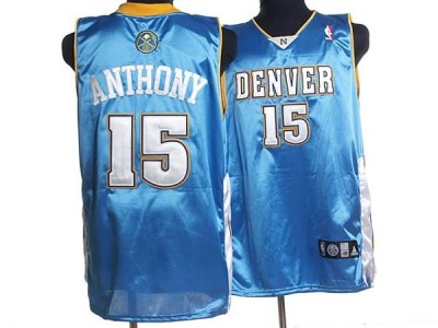 Denver Nuggets #15 Carmelo Anthony Stitched Baby Blue NBA Jersey