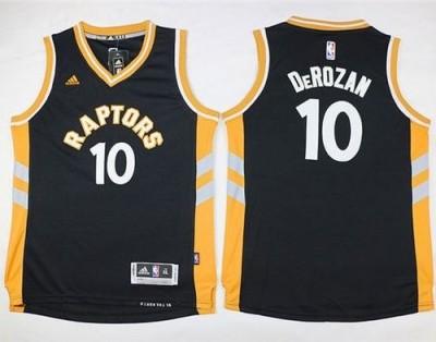 Toronto Raptors #10 DeMar DeRozan Black Youth Stitched NBA Jersey