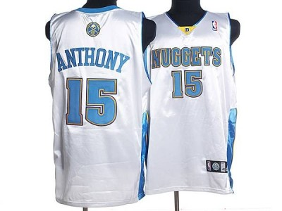 Denver Nuggets #15 Carmelo Anthony Stitched White NBA Jersey
