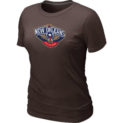New Orleans Pelicans Big & Tall Primary Logo Brown Women's T-Shirt