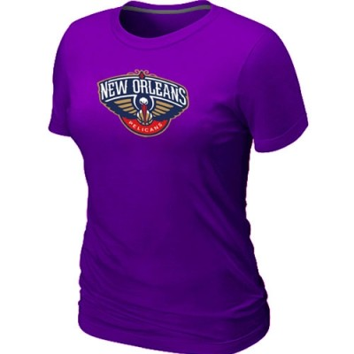 New Orleans Pelicans Big & Tall Primary Logo Purple Women's T-Shirt