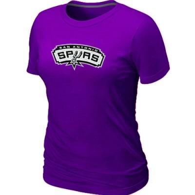NBA San Antonio Spurs Big & Tall Primary Logo Purple Women's T-Shirt