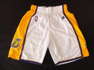 The lakers white shorts