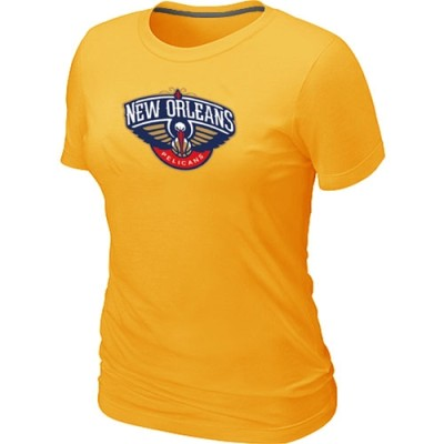 New Orleans Pelicans Big & Tall Primary Logo Yellow Women's T-Shirt