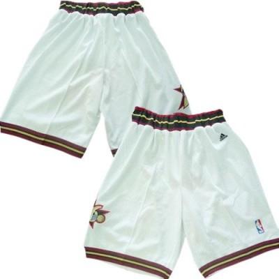 Philadelphia 76ers White NBA Shorts