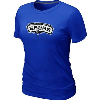 NBA San Antonio Spurs Big & Tall Primary Logo Blue Women's T-Shirt