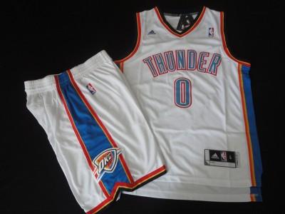The thunder team suit #0 white