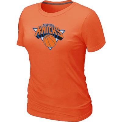 New York Knicks Big & Tall Primary Logo Orange Women's T-Shirt