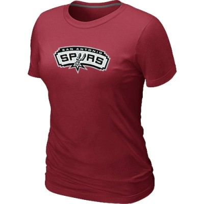 NBA San Antonio Spurs Big & Tall Primary Logo Red Women's T-Shirt