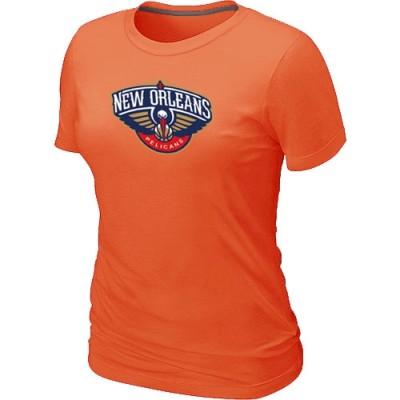 New Orleans Pelicans Big & Tall Primary Logo Orange Women's T-Shirt
