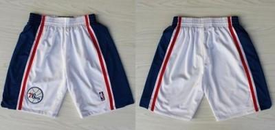 Philadelphia 76ers White 10th NBA Shorts
