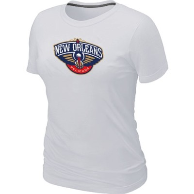 New Orleans Pelicans Big & Tall Primary Logo White Women's T-Shirt