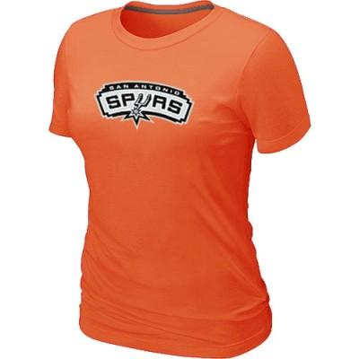 NBA San Antonio Spurs Big & Tall Primary Logo Orange Women's T-Shirt