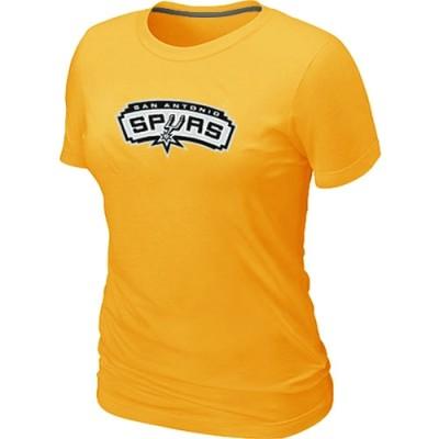 NBA San Antonio Spurs Big & Tall Primary Logo Yellow Women's T-Shirt