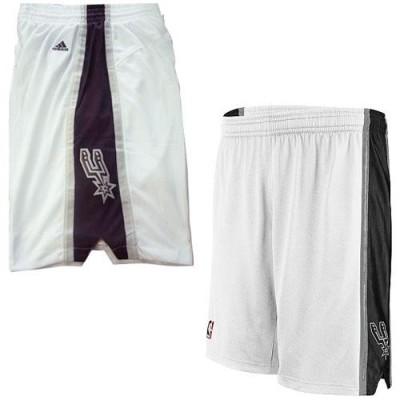 San Antonio Spurs White NBA Shorts