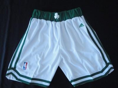 The celtics white shorts
