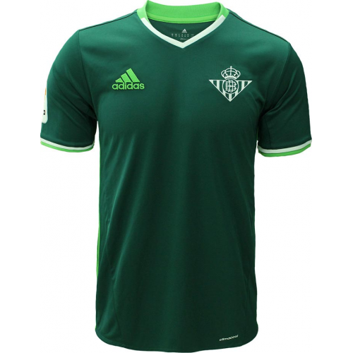 La Liga League Real Betis Away Dark Green Soccer Jersey 2016 2017 Season White And Green Thailand