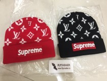 Supreme x LV Knitted Hat