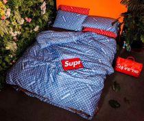 Supreme x LV Authentic Beddings 4pcs Blue