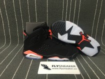"Authenticn Air Jordan 6s GS ""Black Infrared"""