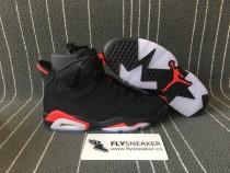 """Air Jordan 6s """"Black Infrared"""" Nike Pair"""