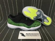 Authentic Air Jordan 11 Retro Low Green Snakeskin