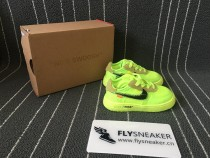 "OFF-WHITE x Nike Air Force 1 ""Volt""  kid size"