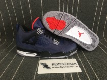 Authentic Air Jordan 4 Blue Fonce