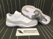 Authentic Air Jordan 11 Retro GS Metallic Silver Low