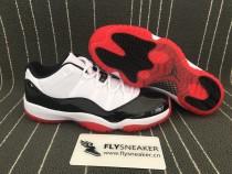 "Authentic Air Jordan 11 Low ""White Bred"""