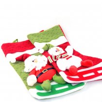 Santa Claus Socks Gift Bags Candy Treat Bags Stockings for Christmas Party