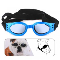 Dog Goggles 360 Degree Foldable Padded Adjustable Elastic Strap UV Plastic Lens for Pet