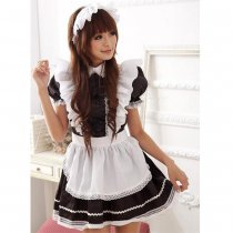 Sweet Temptation Black and White Lace Maid Costume Set