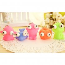 5Pcs Export Tumled Eyes Doll Squeeze Vent Toy Key Chain for Decompression - Random Delivery