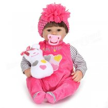 17inch Reborn Baby Girl Doll Silicone Handmade Lifelike Baby Play House Toy