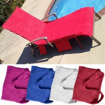 KCASA WX- 878 Summer Microfiber Lounge Chair Beach Towel With Pockets Holidays Sunbathing Quick Drying Towels
